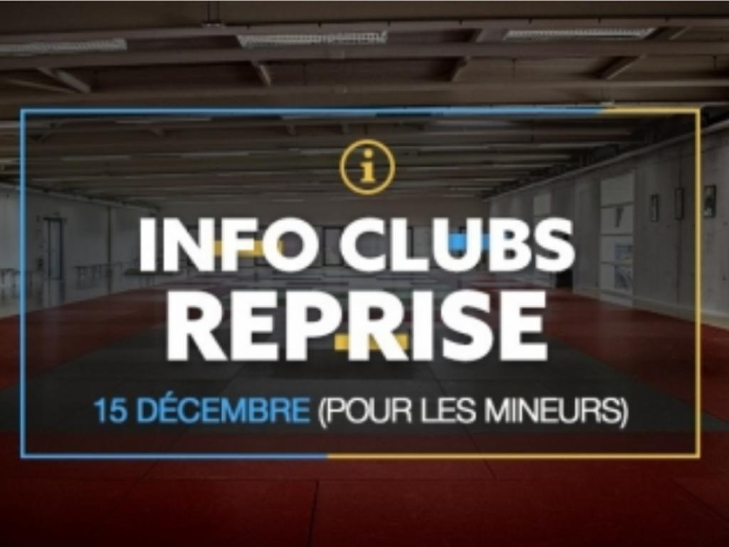 Image de l'actu 'INFO CLUB : REPRISE DES ACTIVITES -18 ANS'